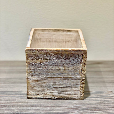 Whitewashed Wooden Box for DIY Flower Box-Holiday Mix