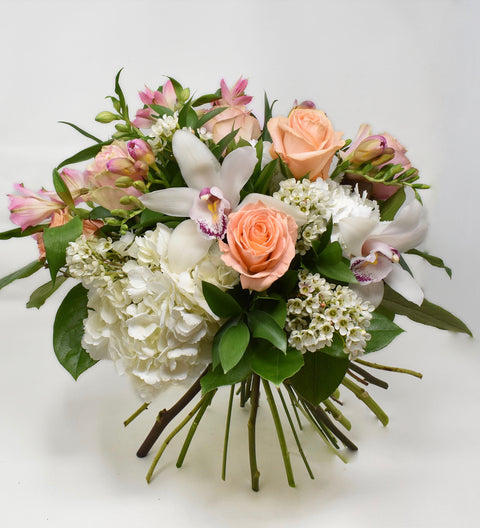 Pale Pink & Pastel Hand-Tied Bouquet