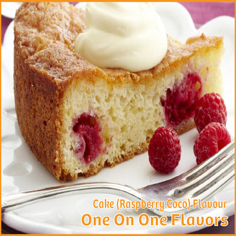 Cake (Raspberry Coco) Flavour- One On One Flavors - Flavour Fog - Canada's flavour depot.