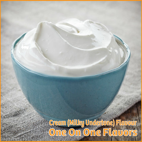 Cream (Milky Undertone) Flavour- One On One Flavors - Flavour Fog - Canada's flavour depot.