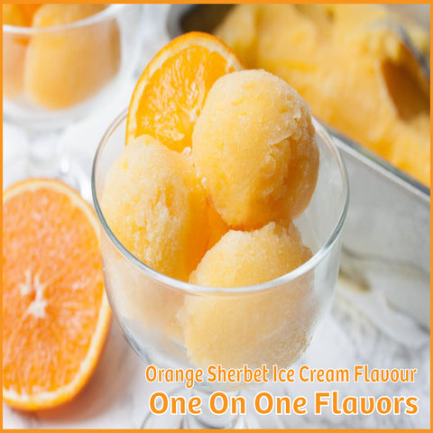 Orange Sherbet Ice Cream Flavour- One On One Flavors - Flavour Fog - Canada's flavour depot.