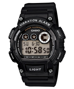 WW1080 Casio Vibration Alarm Dual Time Fiber Belt Watch W-735H-1AV