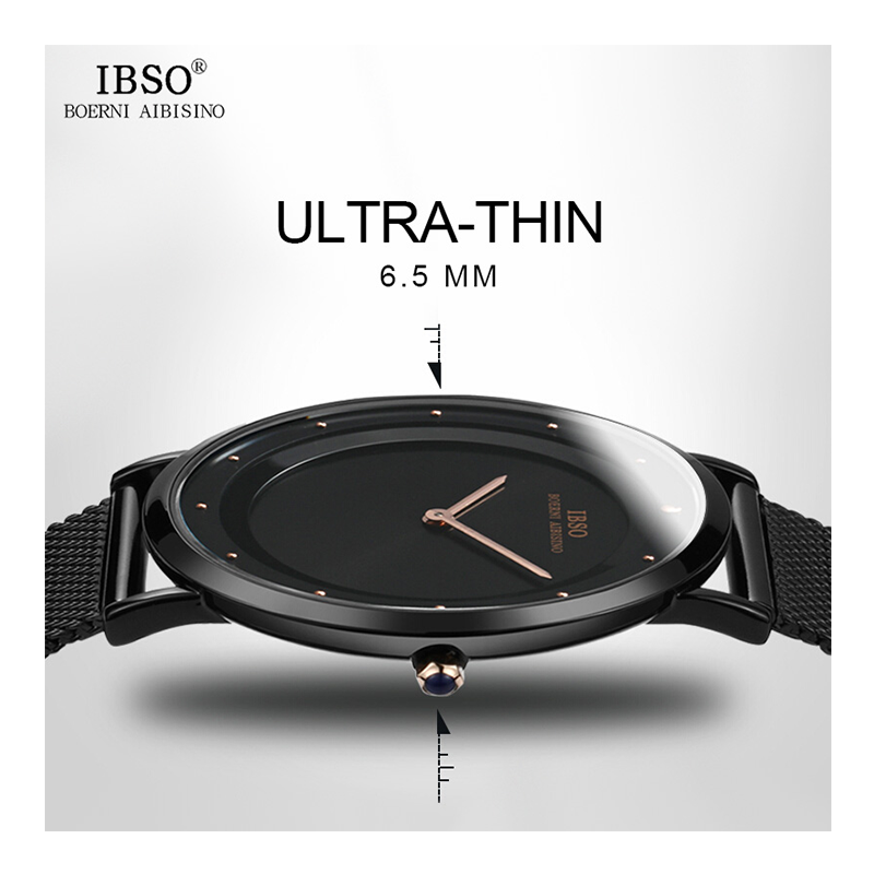 WW0037 IBSO Slim Mesh Chain Watch