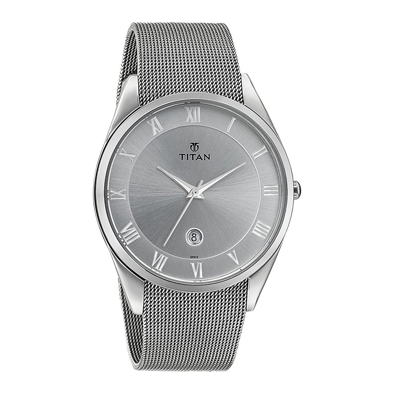 WW0987 Titan Date Mesh Chain Watch 90054SM01