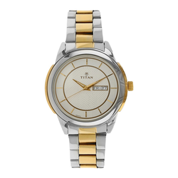 WW0685 Titan Analog Day Date Chain Watch 1585BM01