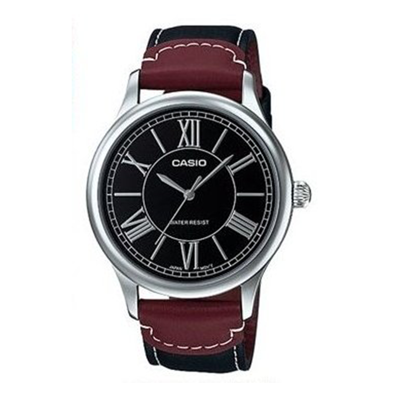 WW0487 Casio Leather Belt Watch MTP-E113L-1AD