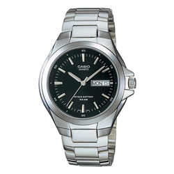 WW0405 Casio Enticer Day Date Stainless Steel Chain Watch MTP-1228D-1AV