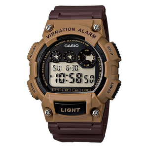 WW1081 Casio Vibration Alarm Dual Time Watch W-735H-5AV