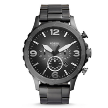WW0265 Fossil Nate Chronograph Smoke Stainless Steel Chain Watch JR1437