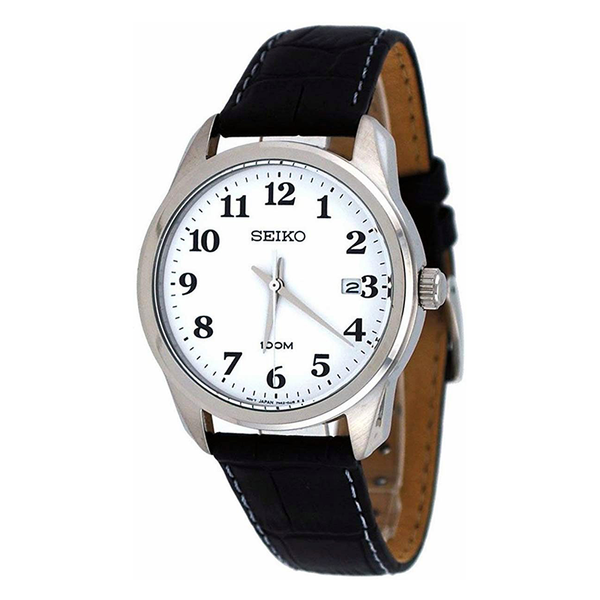 WW0913 Seiko Date Leather Belt Watch SGEG17