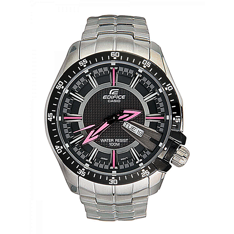 WW0383 Casio Edifice Day Date Chain Watch EF-130D-1A4V
