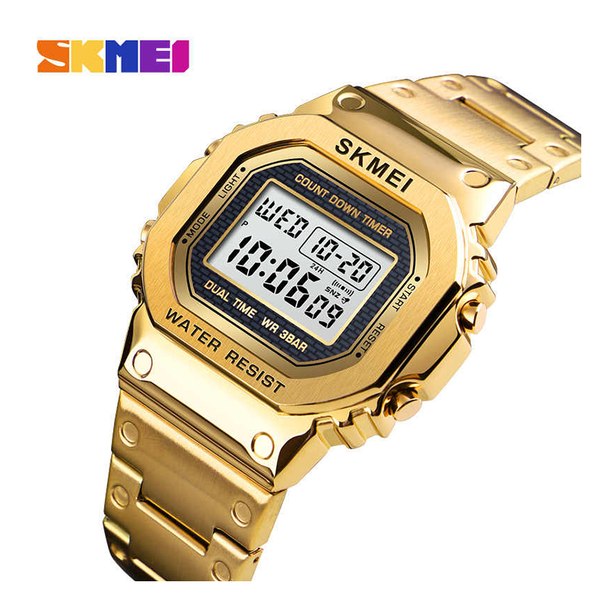 WW1171 SKMEI Dual Time Digital Chain Watch 1456