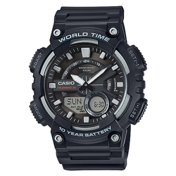 WW0611 Casio Sports Dual Time Fiber Belt Watch AEQ-110W-1AV