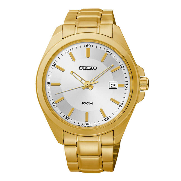 WW0885 Seiko Date Stainless Steel Golden Chain Watch SUR064P1