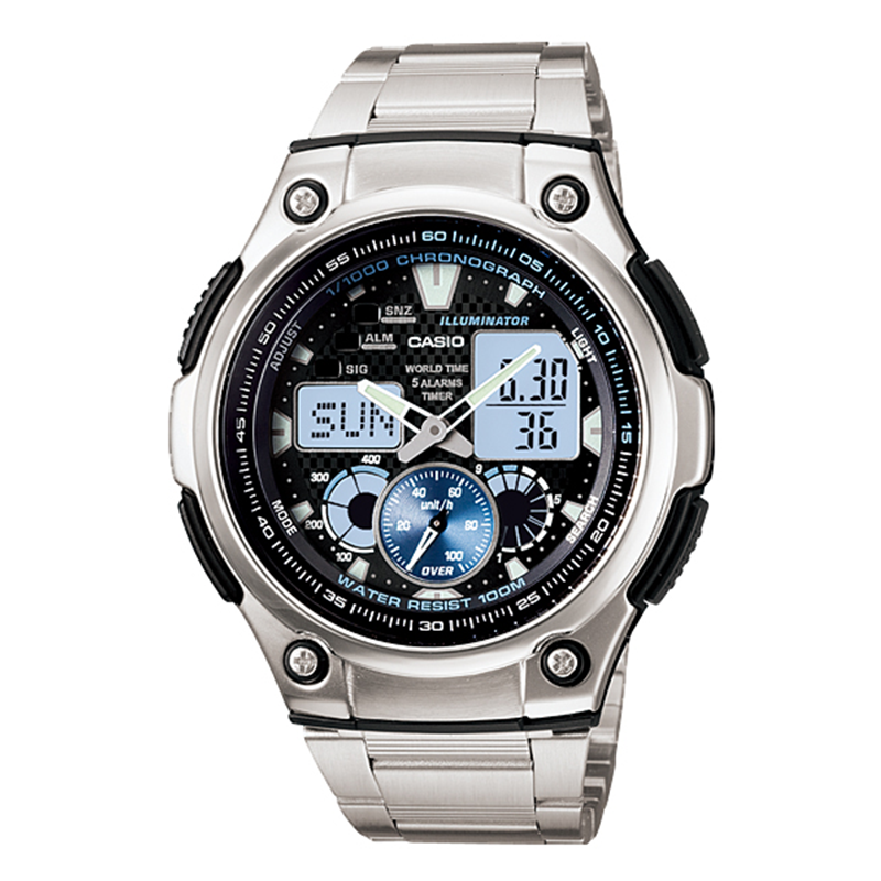 WW0389 Casio Multifunction Sports Chain Watch AQ-190WD-1AV