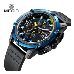 WW0479 Megir Chronograph Leather Belt Watch