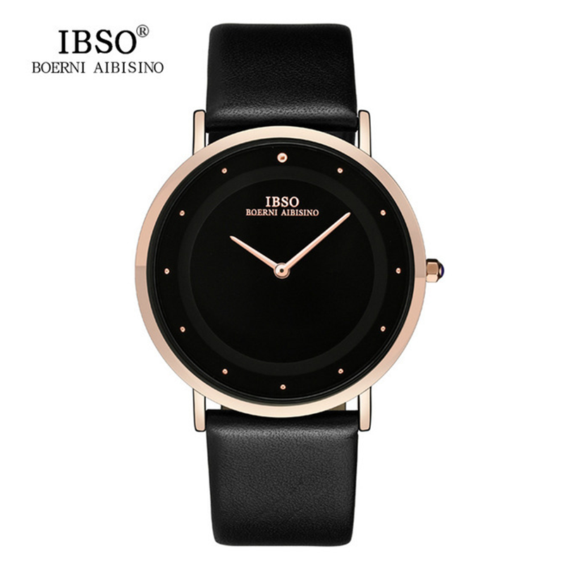 WW0026 IBSO Slim Leather Belt Watch