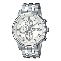 WW0464 Casio Beside Chronograph Stainless Steel Chain Watch BEM-511D-7AV