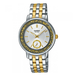 WW0030 Casio Enticer Two Tone Ladies Chain Watch LTP-E408SG-7AV