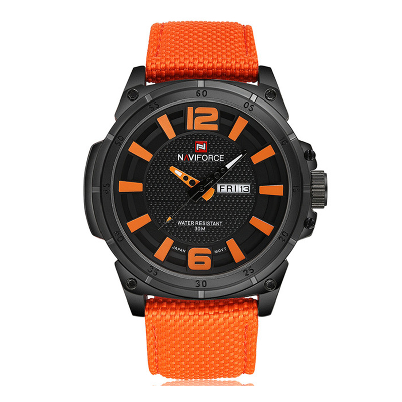 WW0563 Naviforce Day Date Belt Watch