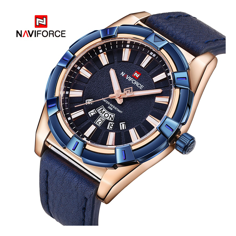 WW0059 Naviforce Day Date Belt Watch