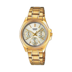 WW1281 Casio Enticer Multifunction Ladies Chain Watch LTP-2088G-9AV
