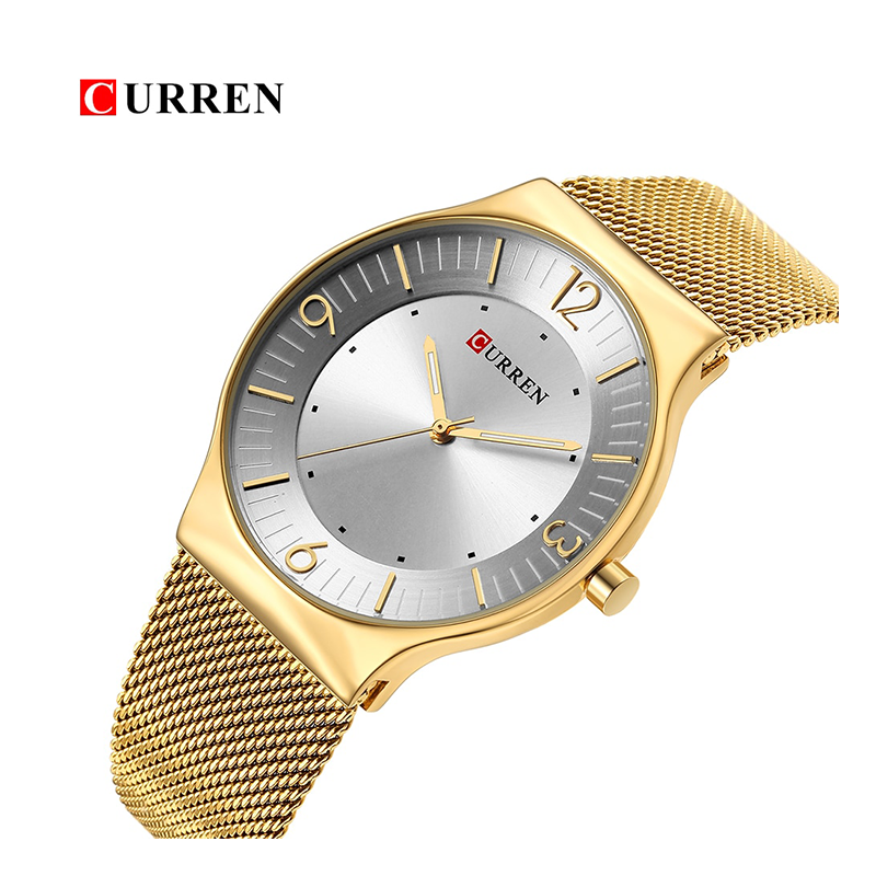 WW0160 Curren Slim Mesh Chain Watch