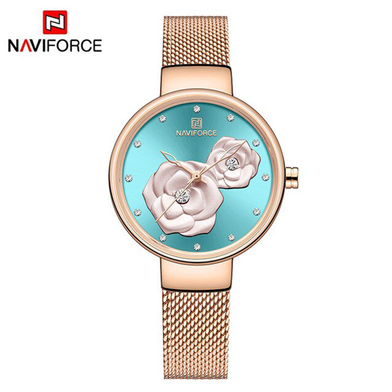 WW1177 Naviforce Ladies Mesh Chain Watch NF5013L