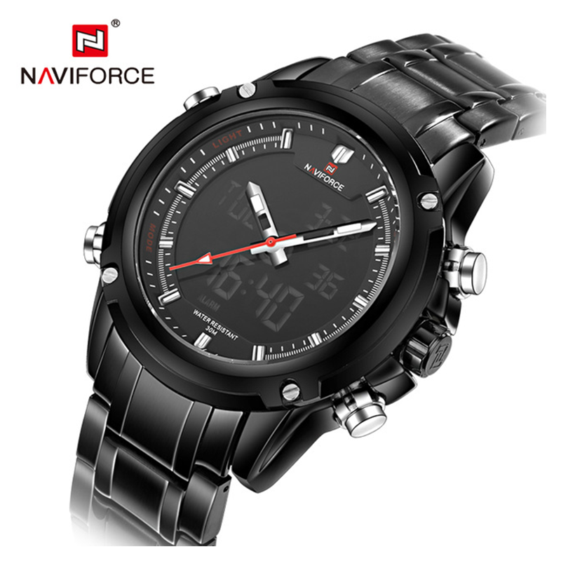 WW1032 Naviforce Dual Time Chain Watch NF9050M