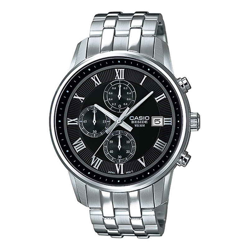 WW0463 Casio Beside Chronograph Stainless Steel Chain Watch BEM-511D-1AV