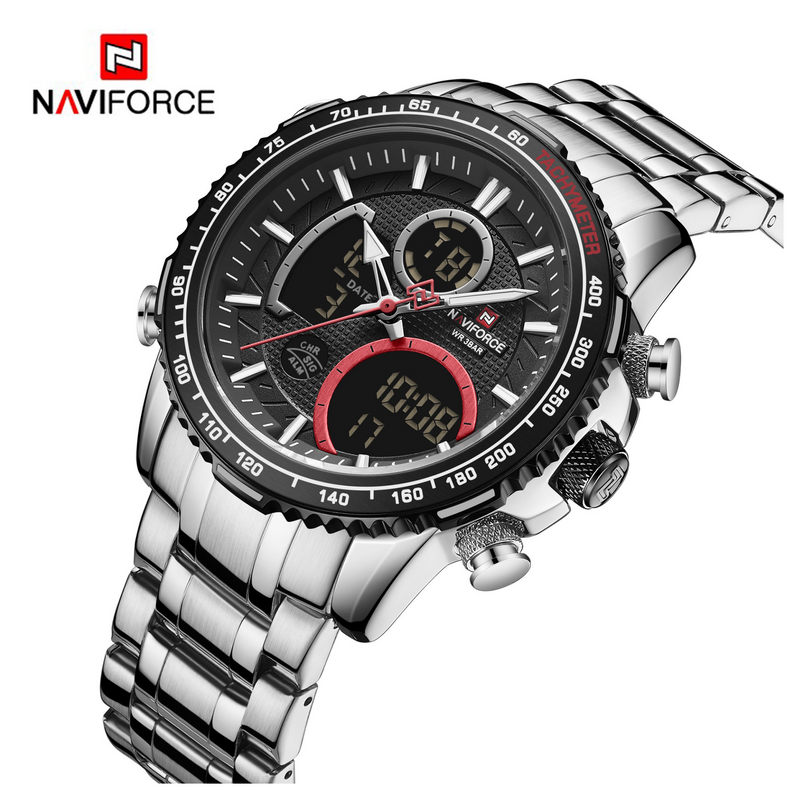 WW1209 Naviforce Multifunction Dual Time Chain Watch NF9182M