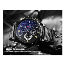 WW0138 Naviforce Day Date Mesh Chain Watch