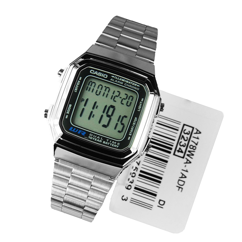 WW0494 Casio Digital Chain Watch A178WA-1AV