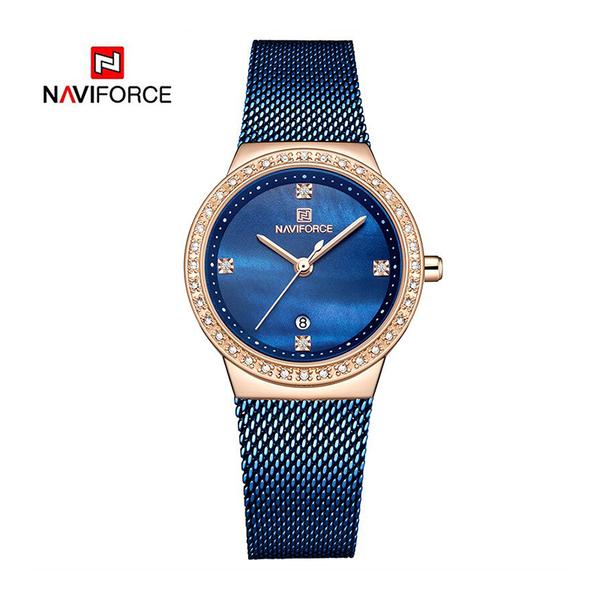 WW1179 Naviforce Ladies Date Mesh Chain Watch NF5005L