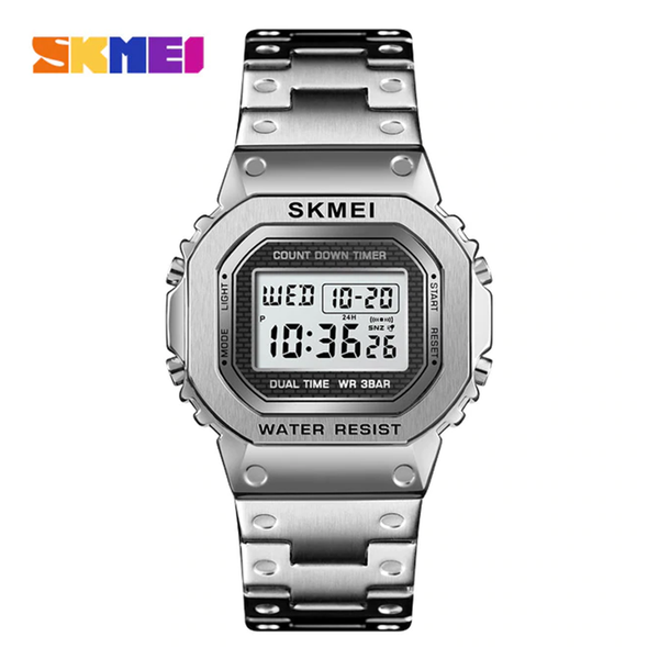 WW1168 SKMEI Dual Time Digital Chain Watch 1456