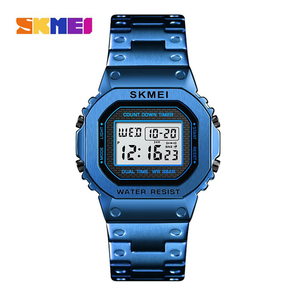 WW1169 SKMEI Dual Time Digital Chain Watch 1456