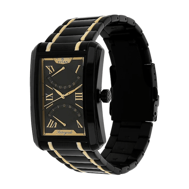 WW0694 Titan Retrograde Analog Multifunction Chain Watch 1694KM02