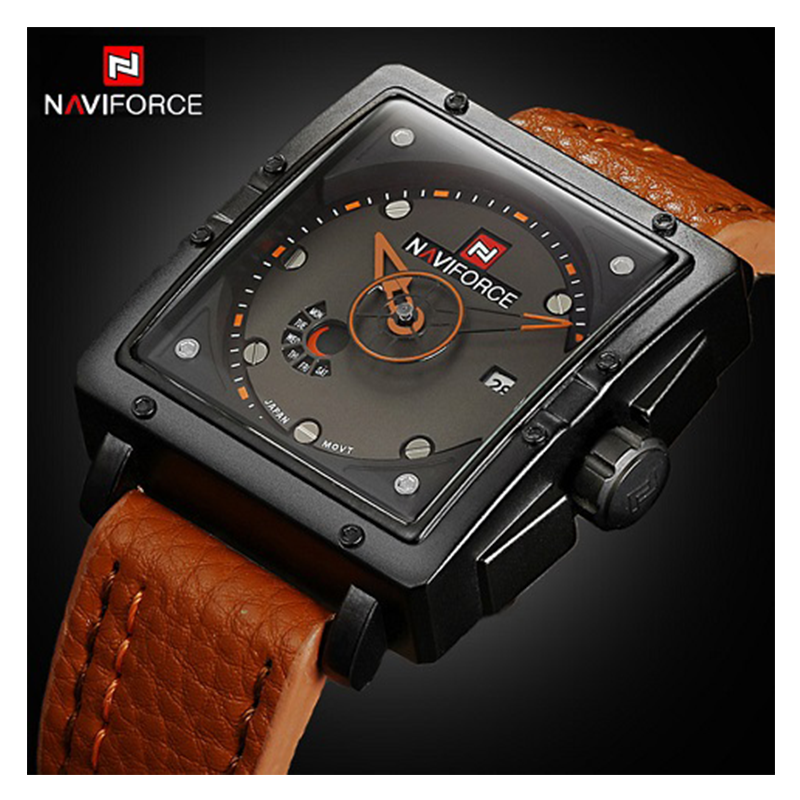 WW0641 Naviforce Day Date Belt Watch