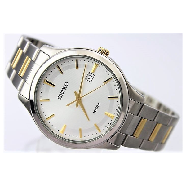 WW0809 Seiko Date Stainless Steel Two Tone Chain Watch SUR053P1