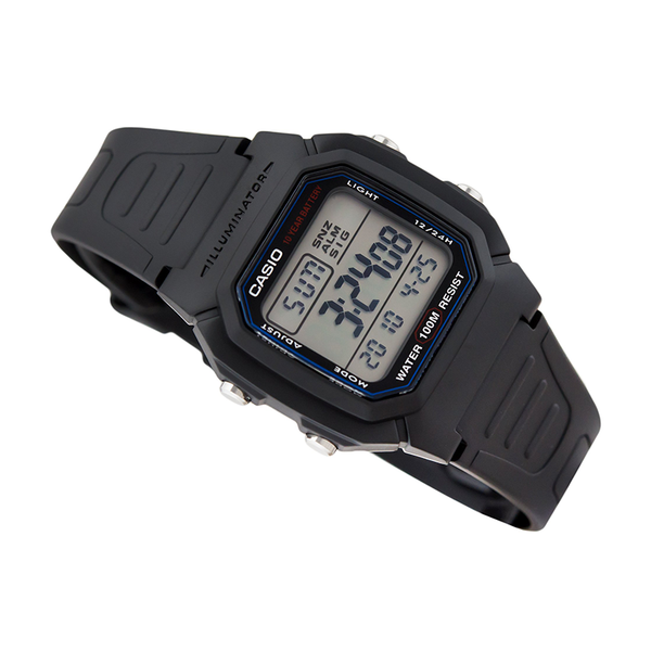 WW1094 Casio Digital Dual Time Belt Watch W-800H-1AV