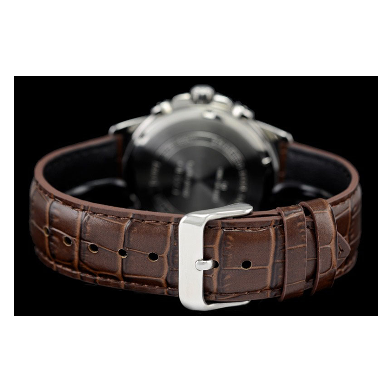 WW0554 Casio Multifunction Leather Belt Watch MTP-E307L-1AV