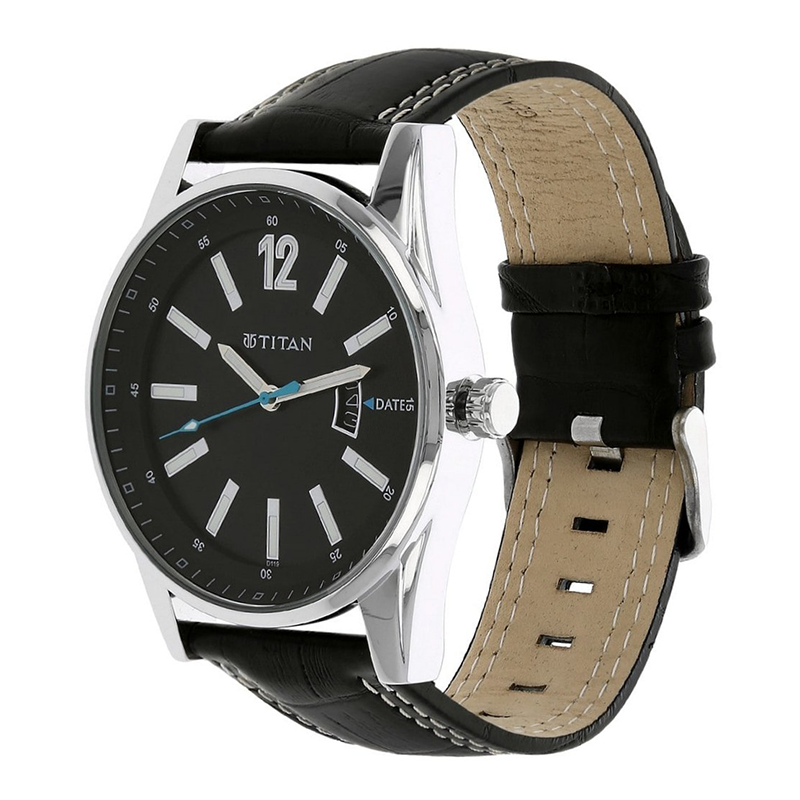 WW0228 Titan Octane Leather Belt Date Watch 9322SL04