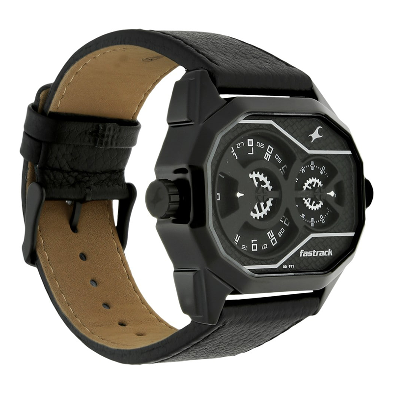 WW0219 Fastrack Dual Dial Leather Belt Watch 3094