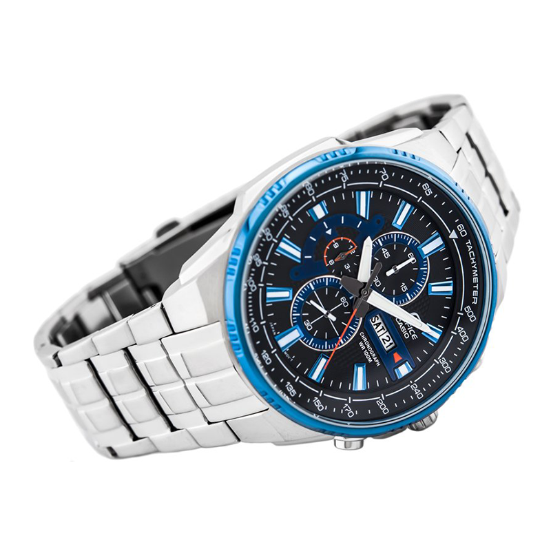 WW0668 Casio Edifice Chronograph Stainless Steel Chain Watch EFR-549D-1A2V