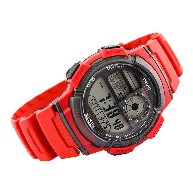 WW0587 Casio World Time Multifunction Fiber Belt Watch AE-1000W-4AV