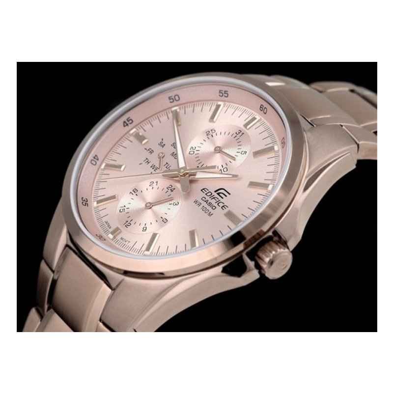 WW0381 Casio Edifice Stainless Steel Chain Watch EF-339G-9AV