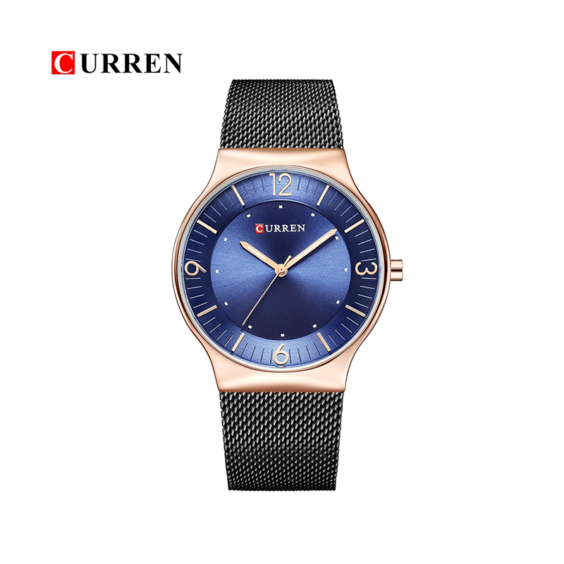 WW0158 Curren Slim Mesh Chain Watch