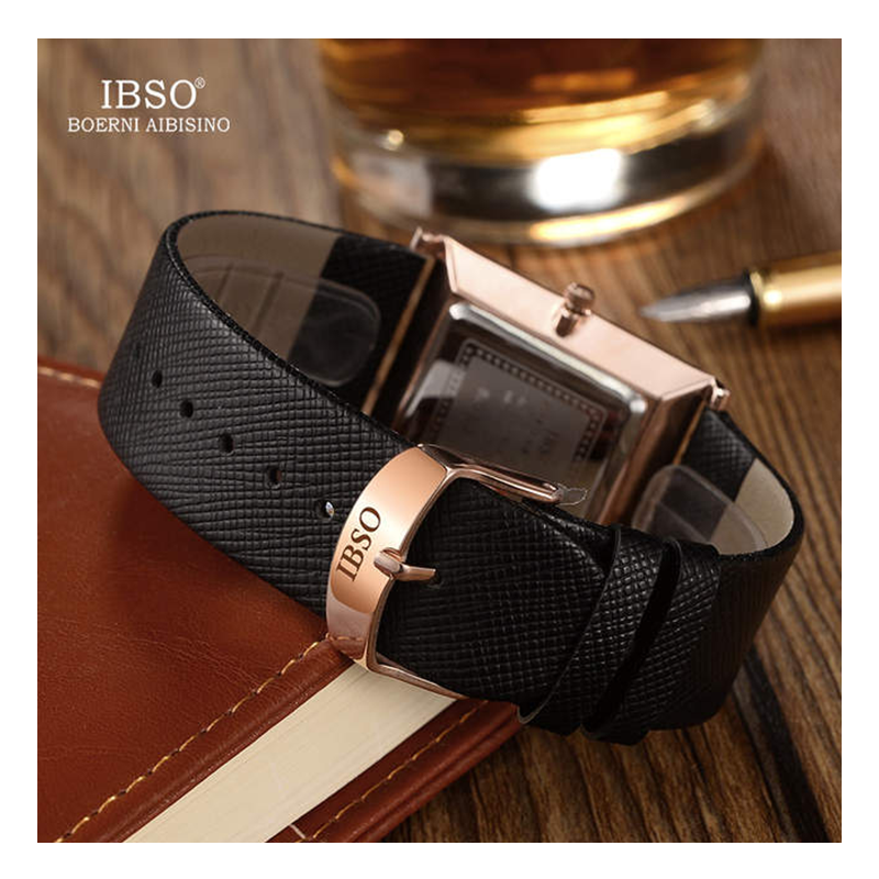 WW0272 IBSO Slim Leather Belt Watch B2232G