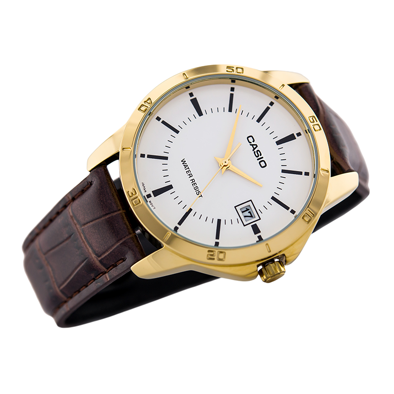 WW0178 Casio Date Belt Watch MTP-V004GL-7AV