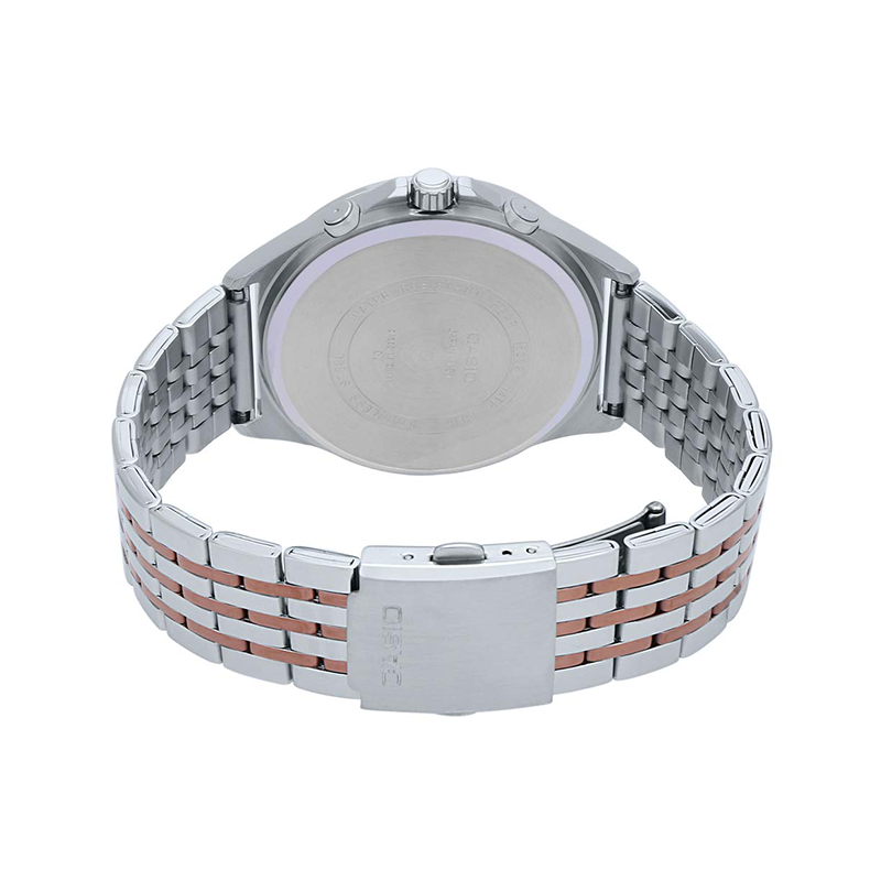 WW1095 Casio Enticer Multifunction Stainless Steel Chain Watch MTP-E316RG-2AV